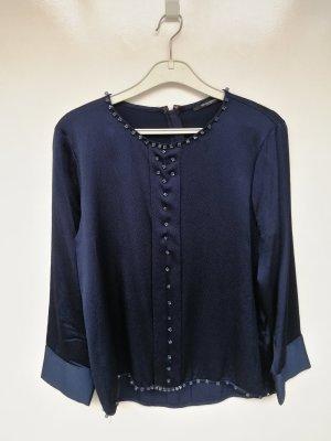 Bruuns bazaar Top koszulowy ciemnoniebieski