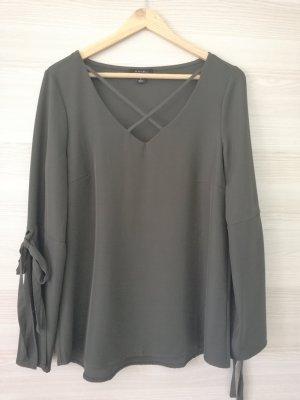 Amisu Bluzka tunika ciemnozielony