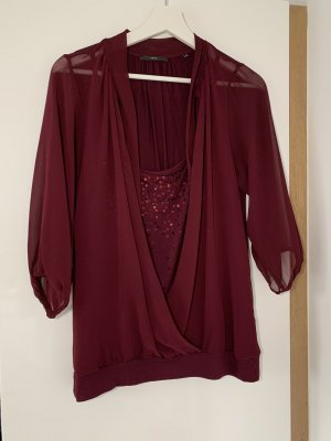 Zero Wraparound Blouse bordeaux