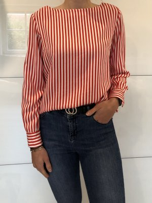 Pieces Long Sleeve Blouse white-red