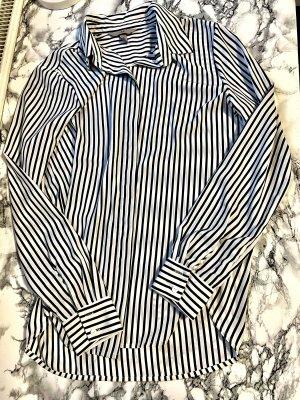 H&M Cols de blouses blanc-bleu foncé