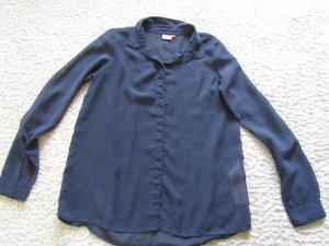 Be only Blouse met lange mouwen blauw Polyester