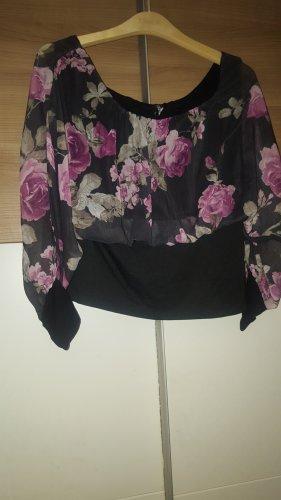 Madonna Tunique de plage noir-rose