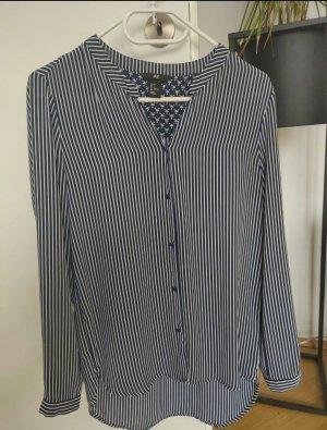 H&M Połyskująca bluzka biały-niebieski