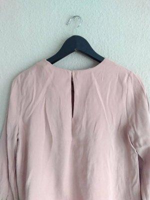 Zara Blouse met lange mouwen stoffig roze Lyocell