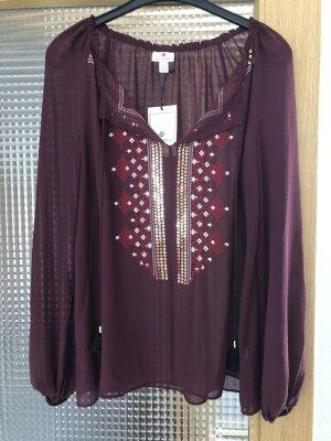 Altuzarra Blusa de túnica burdeos-púrpura