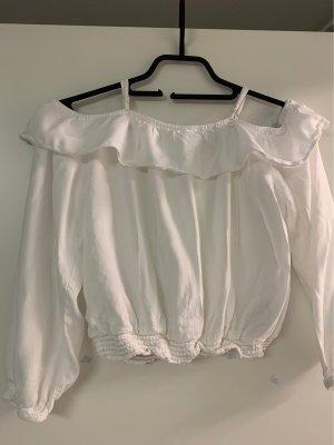 H&M Bluzka typu carmen biały