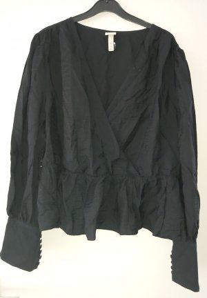 H&M Kopertowa bluzka czarny