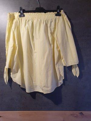 H&M Blouse Carmen jaune clair