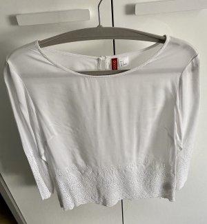 H&M Blusa de lino blanco