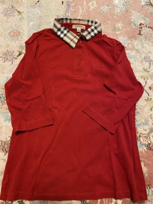 Burberry London Shirt Blouse red