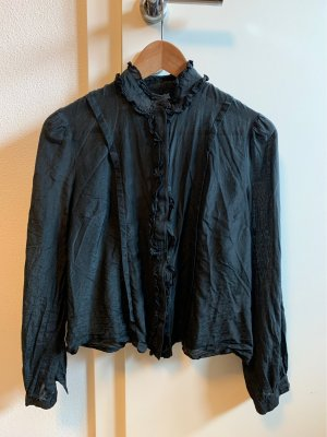 Zijden blouse zwart