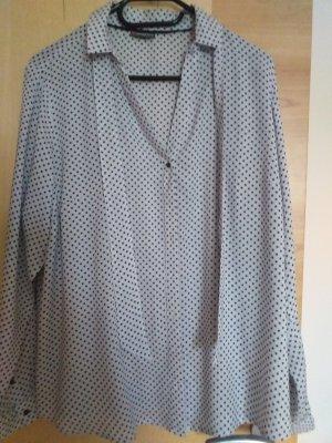 Street One Blusa con lazo negro-gris