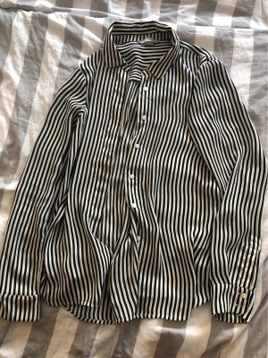 H&M Koszulowa bluzka biały-czarny