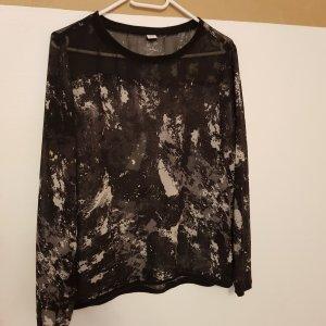 s.Oliver Long Sleeve Blouse white-black