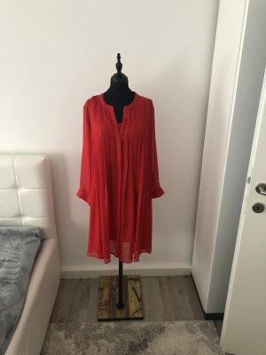 Mango Blusa larga rojo