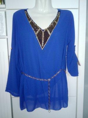 Inserción de blusa azul
