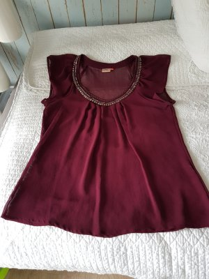 Be only Short Sleeved Blouse bordeaux
