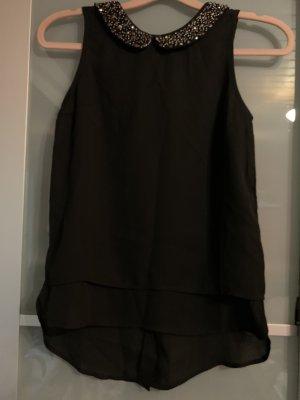 Pimkie Blusa de cuello alto negro