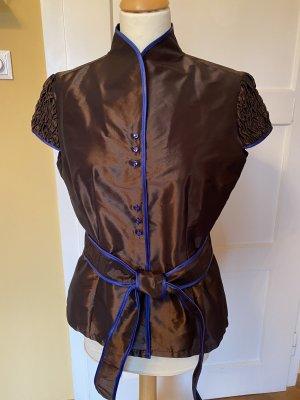 Naracamicie Cols de blouses brun-bleu