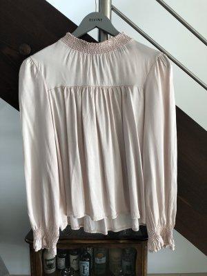 VANESSA SCOTT Blusa in seta rosa pallido