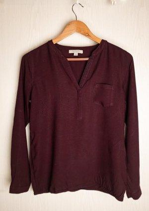 Comma Empiècement de blouses bordeau