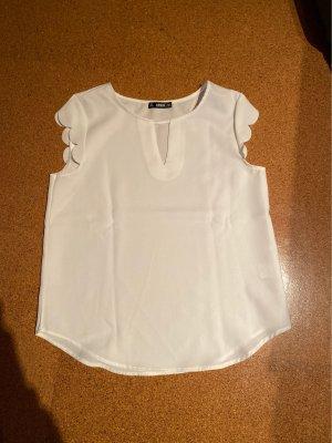 SheIn Blusa de encaje blanco
