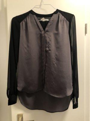 Kenneth Cole Glanzende blouse zwart-groen-grijs Polyester
