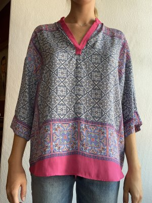 Zara Basic Blouse brillante multicolore