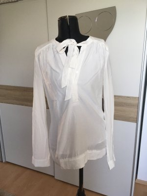 Zara Blouse avec noeuds blanc cassé