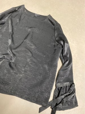 Amisu Glanzende blouse zwart