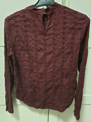 H&M Cols de blouses rouge foncé
