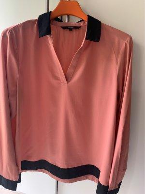 Vero Moda Bluzka z długim rękawem brzoskwiniowy-łosowiowy Poliester