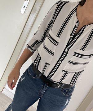 Mango Camicia blusa bianco-nero