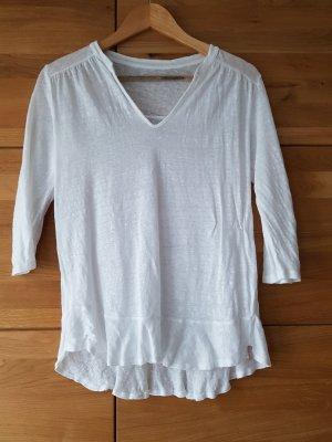 81hours Blusa de lino blanco