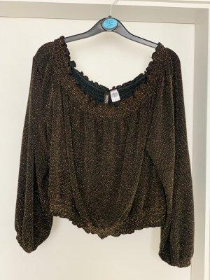 H&M Glanzende blouse brons