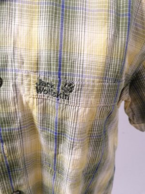 Jack Wolfskin Checked Blouse lime-green-grass green