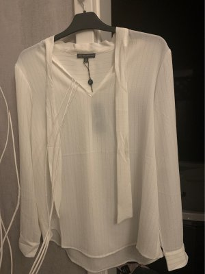 Adrianna Papell Long Sleeve Blouse white-gold-colored