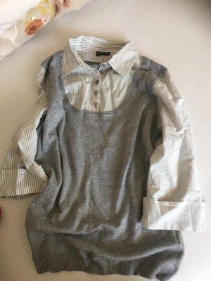 Colletto camicia argento-nero