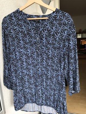 SaHara Blusa con lazo azul oscuro-azul