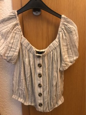 American Eagle Outfitters Blusa Camisa beige claro
