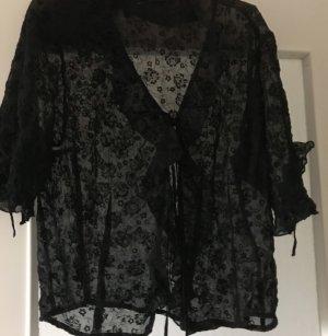 Tuzzi Blusa de encaje negro
