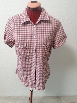H&M Bluzka w kratę biały-ciemnoczerwony