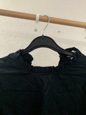 H&M Cols de blouses bleu foncé-noir