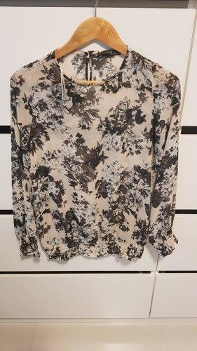 Atmosphere Oversized blouse zwart-wolwit