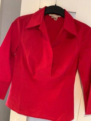 Zara Kołnierzyk koszulowy czerwony