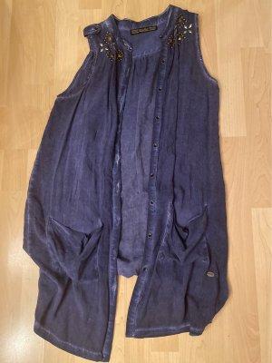 Replay Blusa larga azul acero