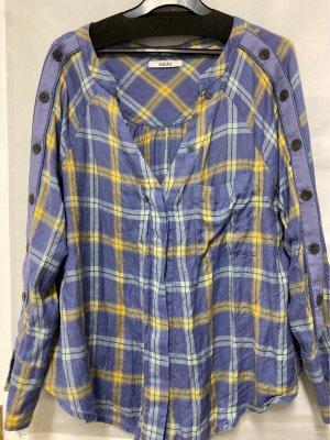 Snidel Bluzka w kratę żółty-stalowy niebieski
