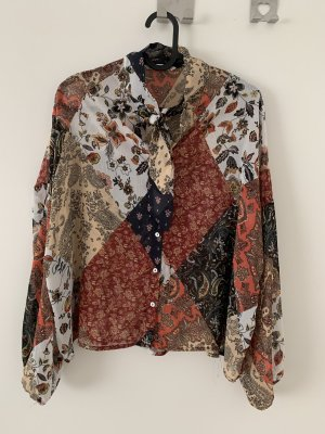 Stradivarius Linen Blouse multicolored