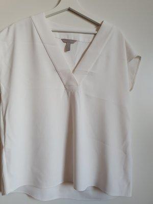 H&M Połyskująca bluzka biały